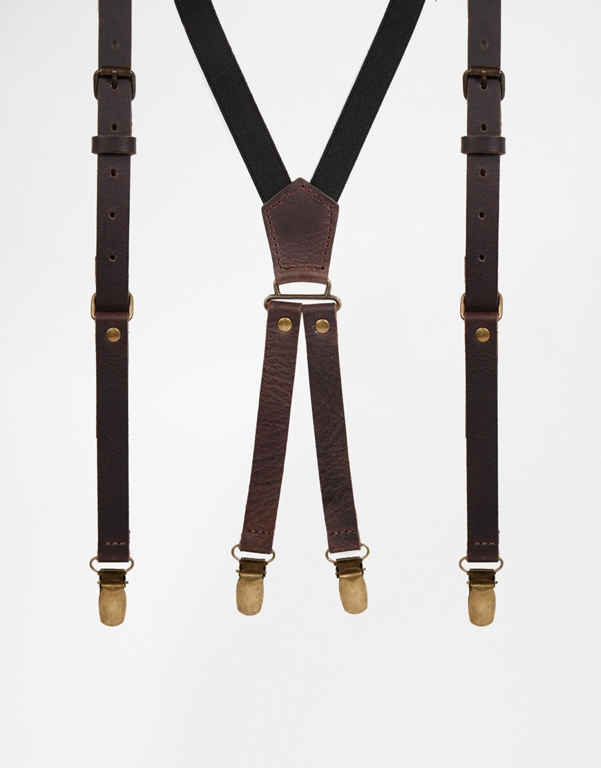FREE Shipping Brown Leather Suspenders, leather suspenders, brown suspenders, brown leather, suspenders, Mens suspenders, Fit Tall Adult Men crystalAmour 5 out of 5 stars.