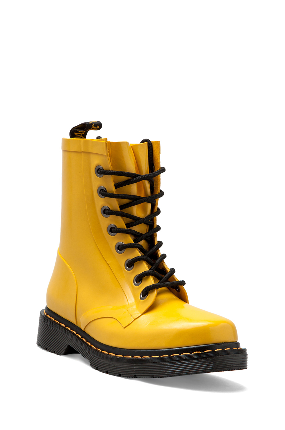 Lyst Dr Martens Drench 8eye Rain Boot In Yellow In Yellow