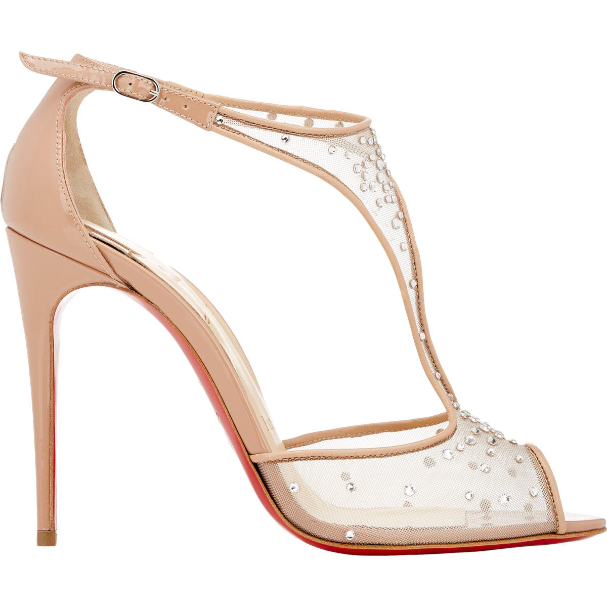 444175bf0b67 ... denmark lyst christian louboutin womens embellished patinana sandals in  fc53c 47b25