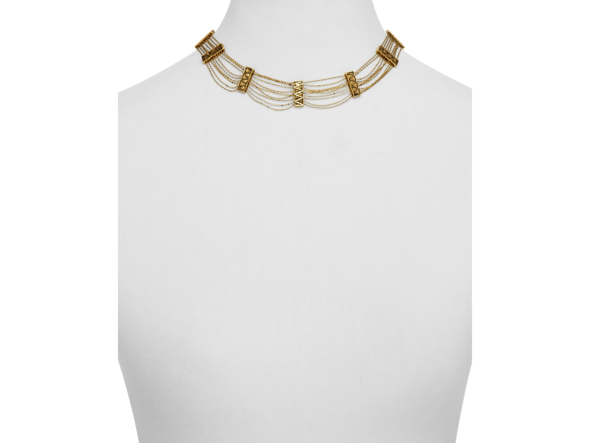 House Of Harlow House of Harlow Peak To Peak Pendant Necklace in Metallic Gold 38oVG1