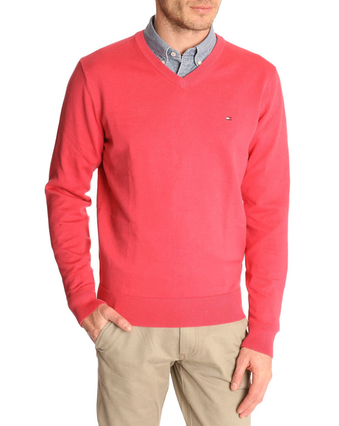 tommy hilfiger mens v neck sweater