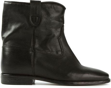 isabel marant 39 cluster 39 boots in black lyst. Black Bedroom Furniture Sets. Home Design Ideas