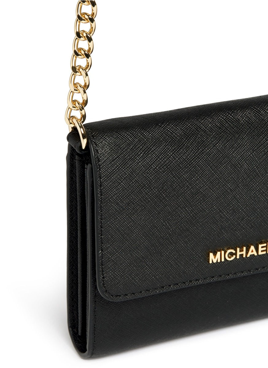 965757e67ddb Michael Kors Jet Set Travel Wallet On A Chain Black - Best Photo ...