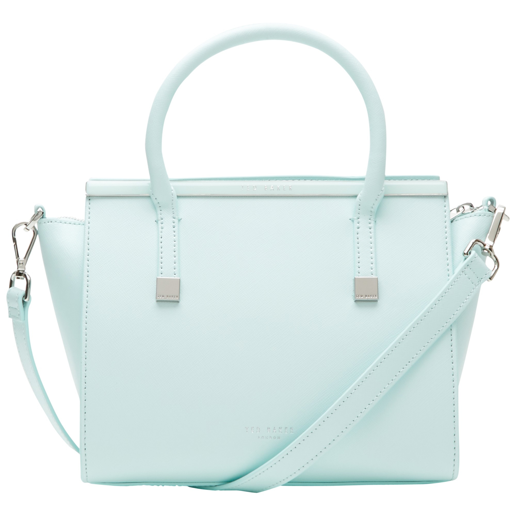 afc4e052fcfad3 Ted Baker Tabatha Crosshatch Leather Tote in Green - Lyst