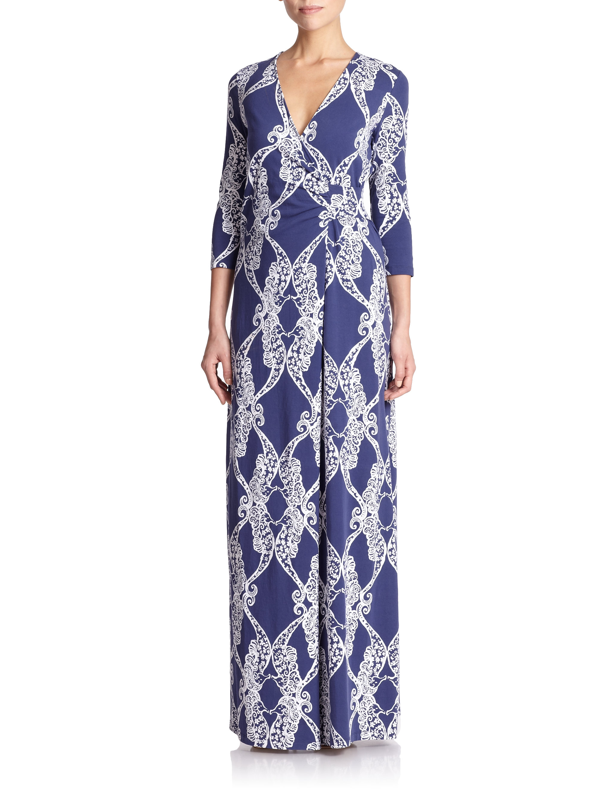 Lilly Pulitzer Yvette Maxi Dress In Blue Lyst
