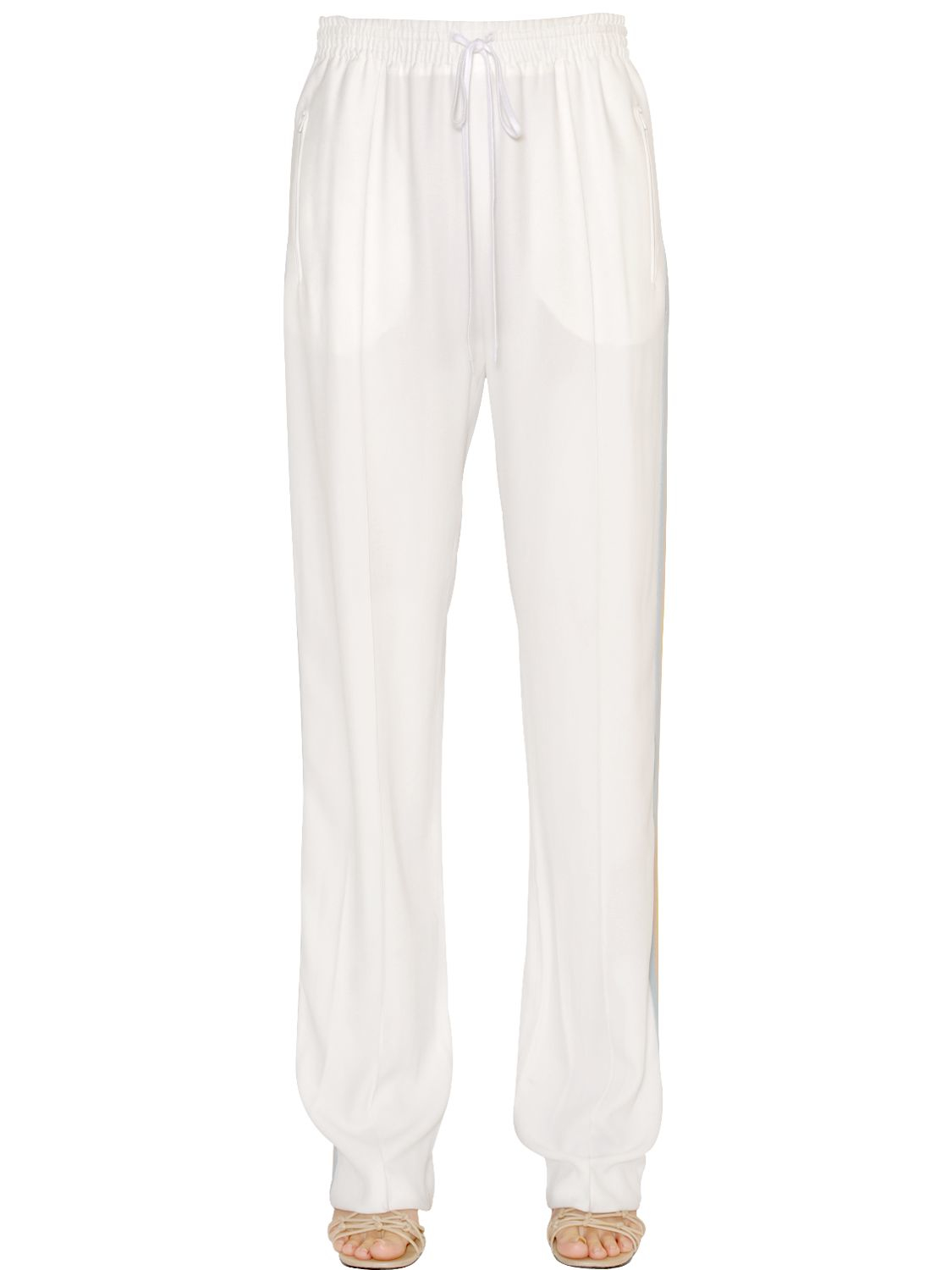 Lyst Chlo 233 Rainbow Stripes Light Cady Jogging Pants In White