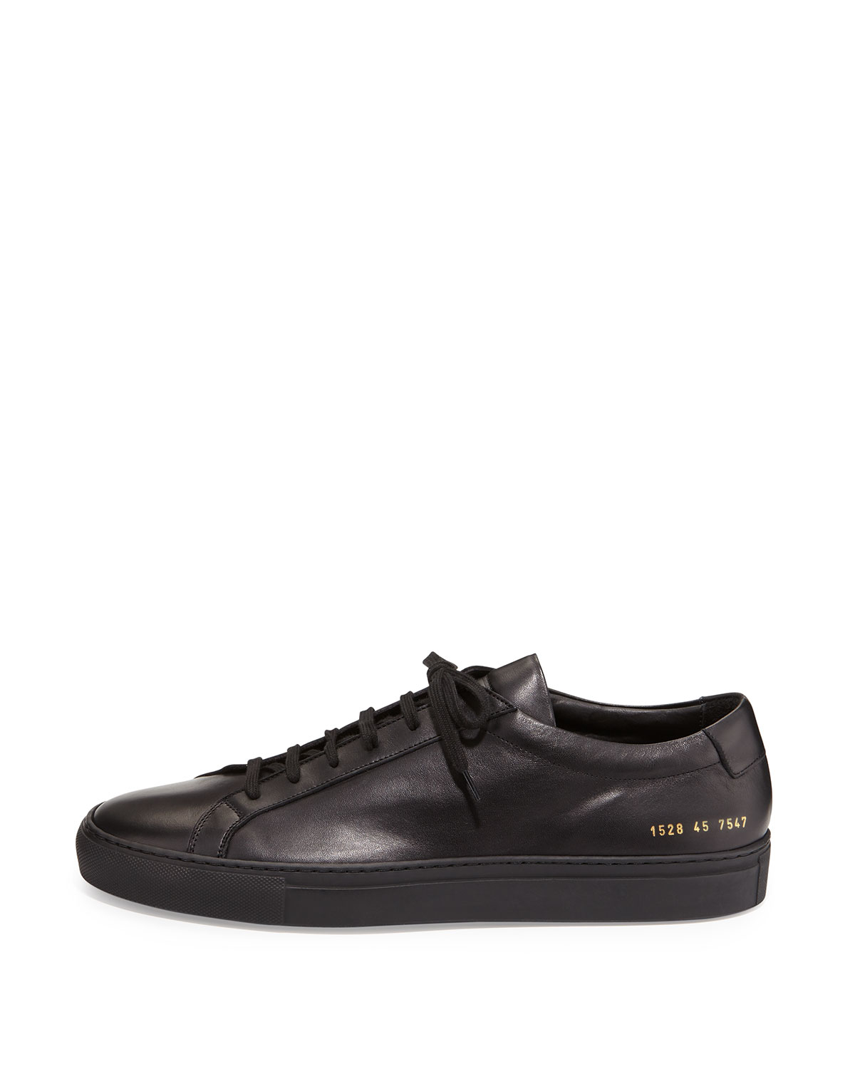 common projects achilles low top sneaker in black for men lyst. Black Bedroom Furniture Sets. Home Design Ideas