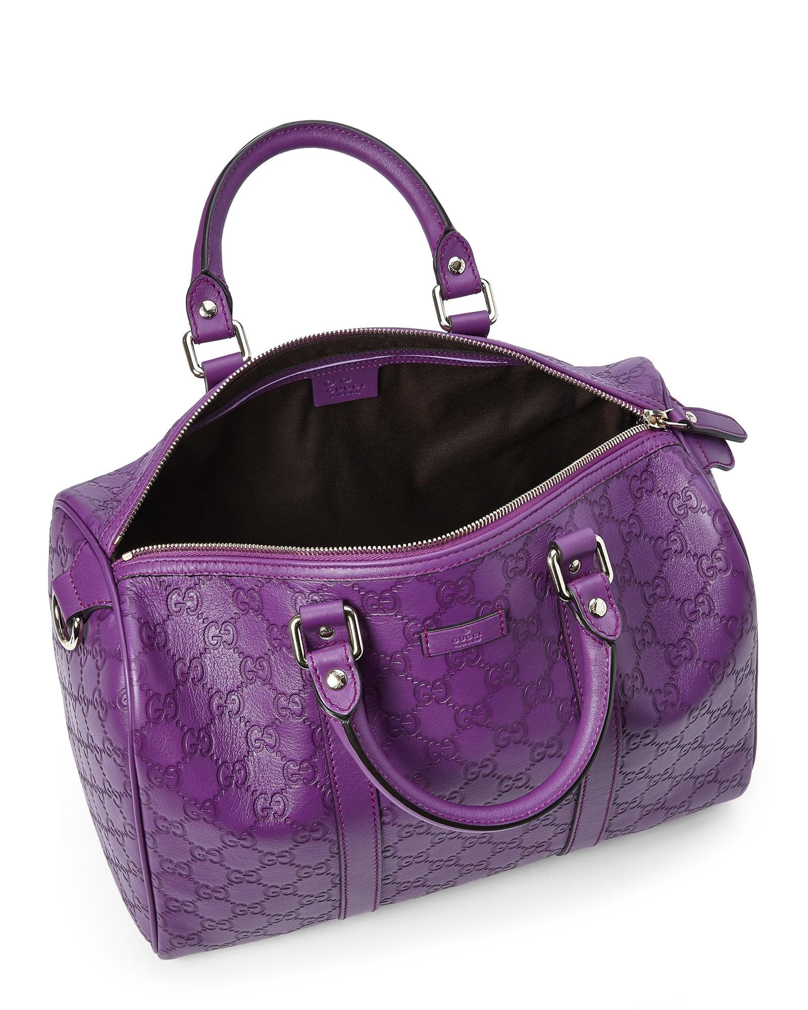 70c2307a4176 Lyst - Gucci Purple Ssima Boston Bag in Purple