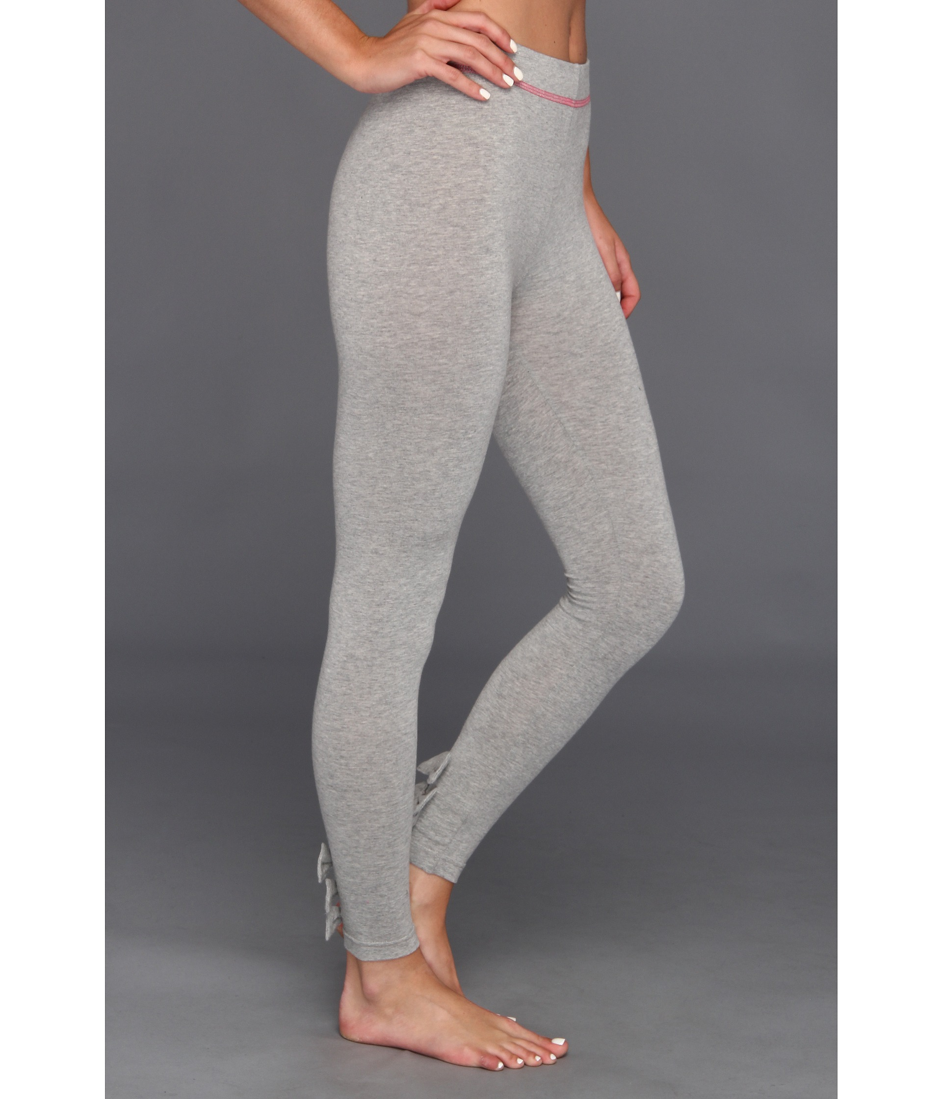 Betsey Johnson Baby Bows Cut Sew Legging in Gray Heather