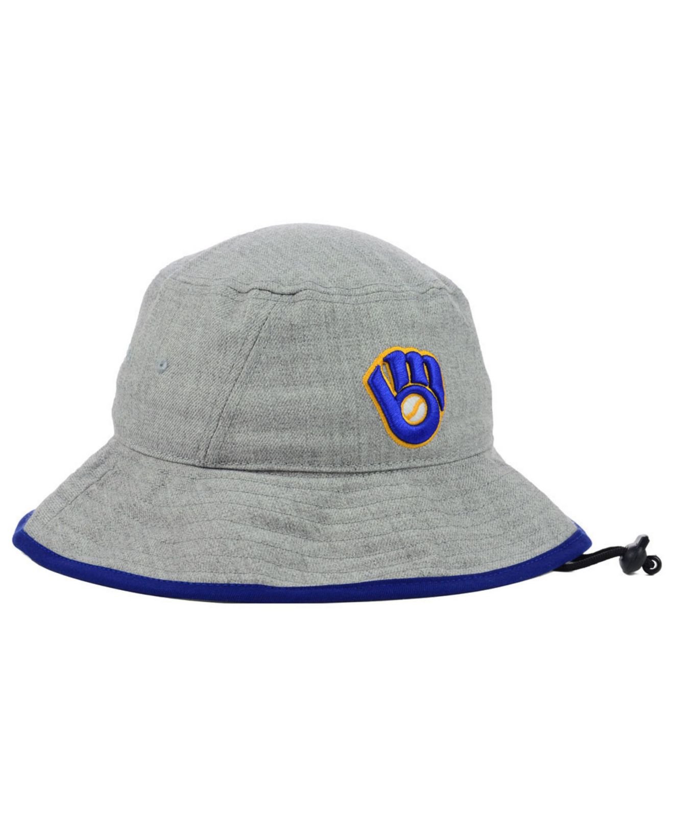 fb2186b06bd87 australia lyst ktz milwaukee brewers heather tipped bucket hat in gray for  men adf88 acb69