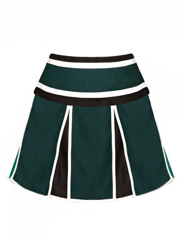pixie market half time pleated skirt in green lyst