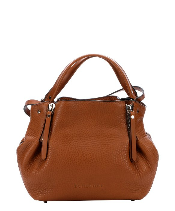 Lyst - Burberry Saddle Brown Leather And Check Canvas  Maidstone ... 597d188712c51
