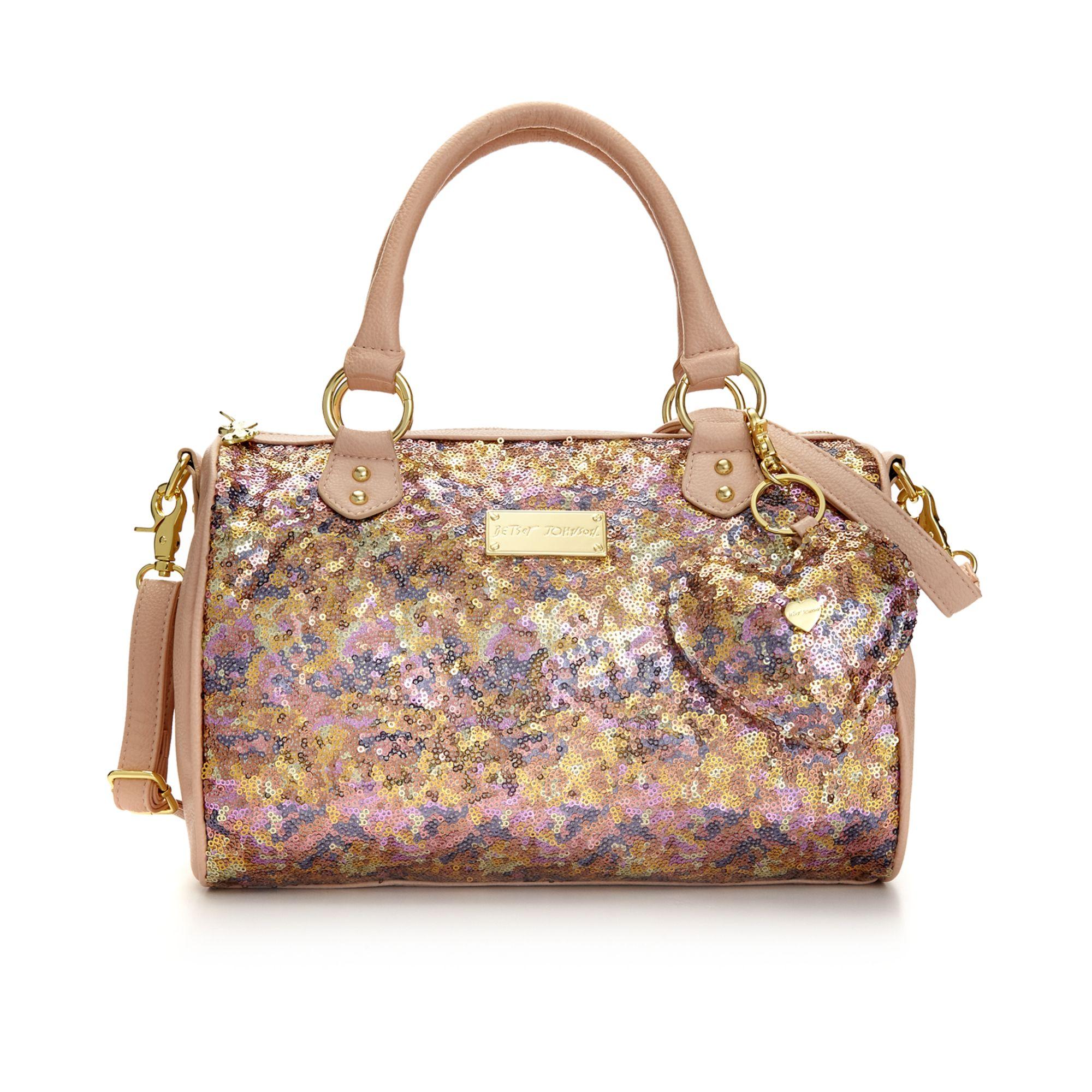 betsey johnson satchel in pink lyst