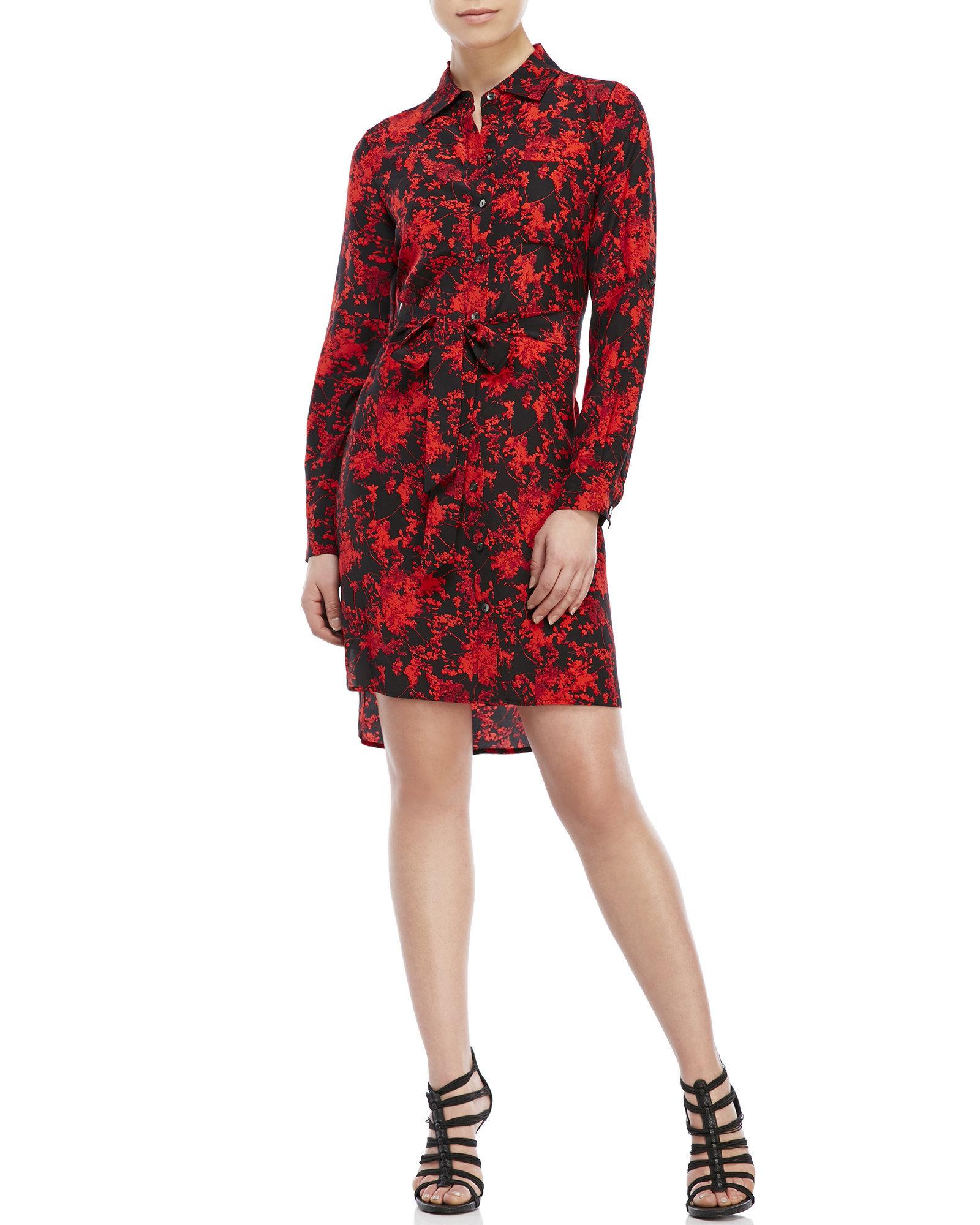 c79135215b44 Lyst - Diane von Furstenberg Prita Floral Silk Shirtdress