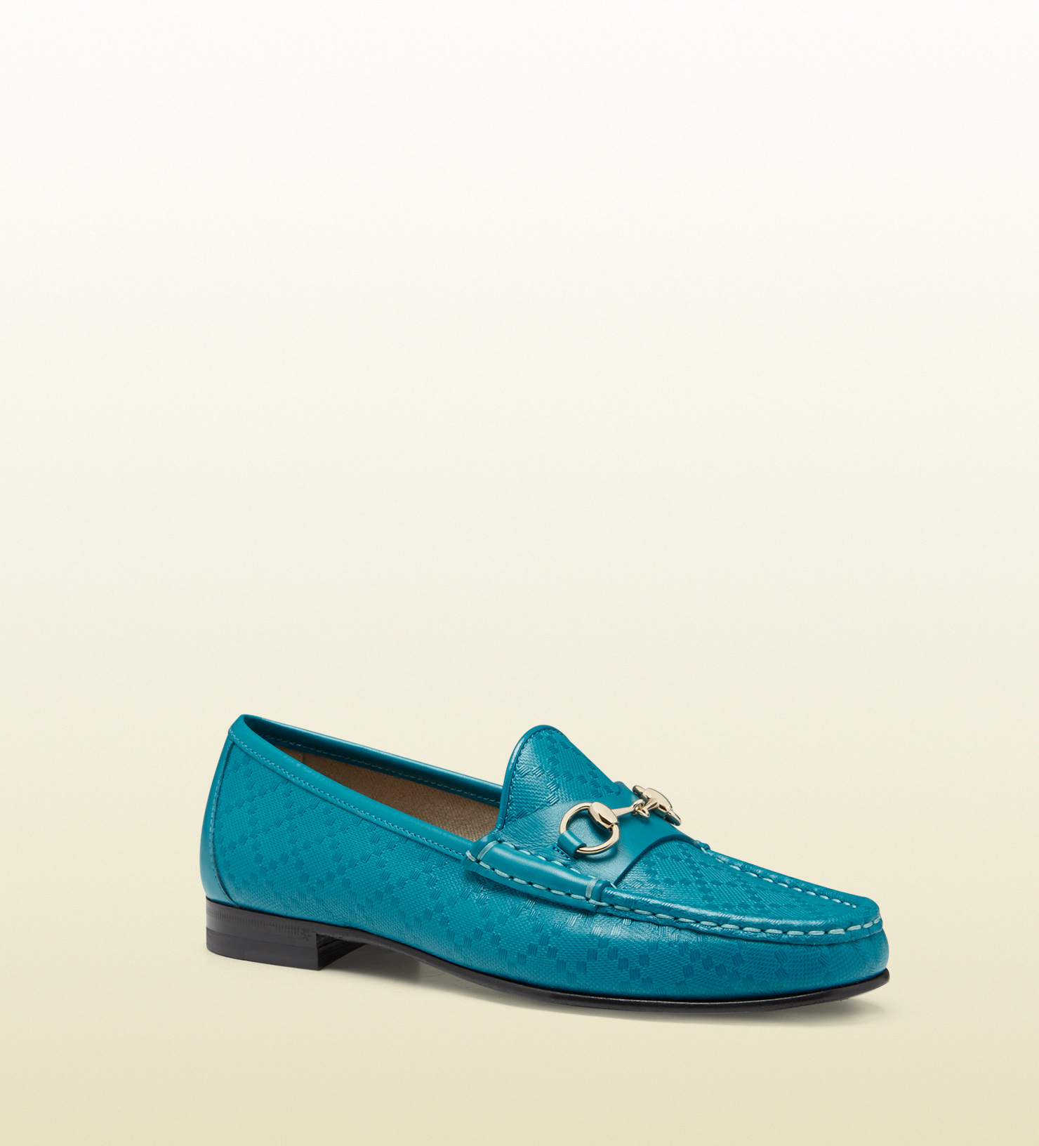 1d7bdb7b366 Lyst - Gucci 1953 Horsebit Loafer In Diamante Leather in Blue