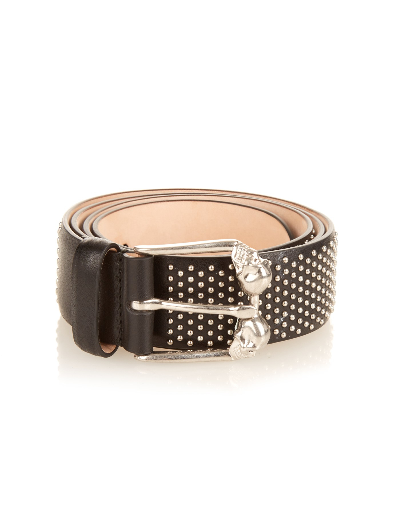 gold studded leather belt - Black Alexander McQueen R6BsQ