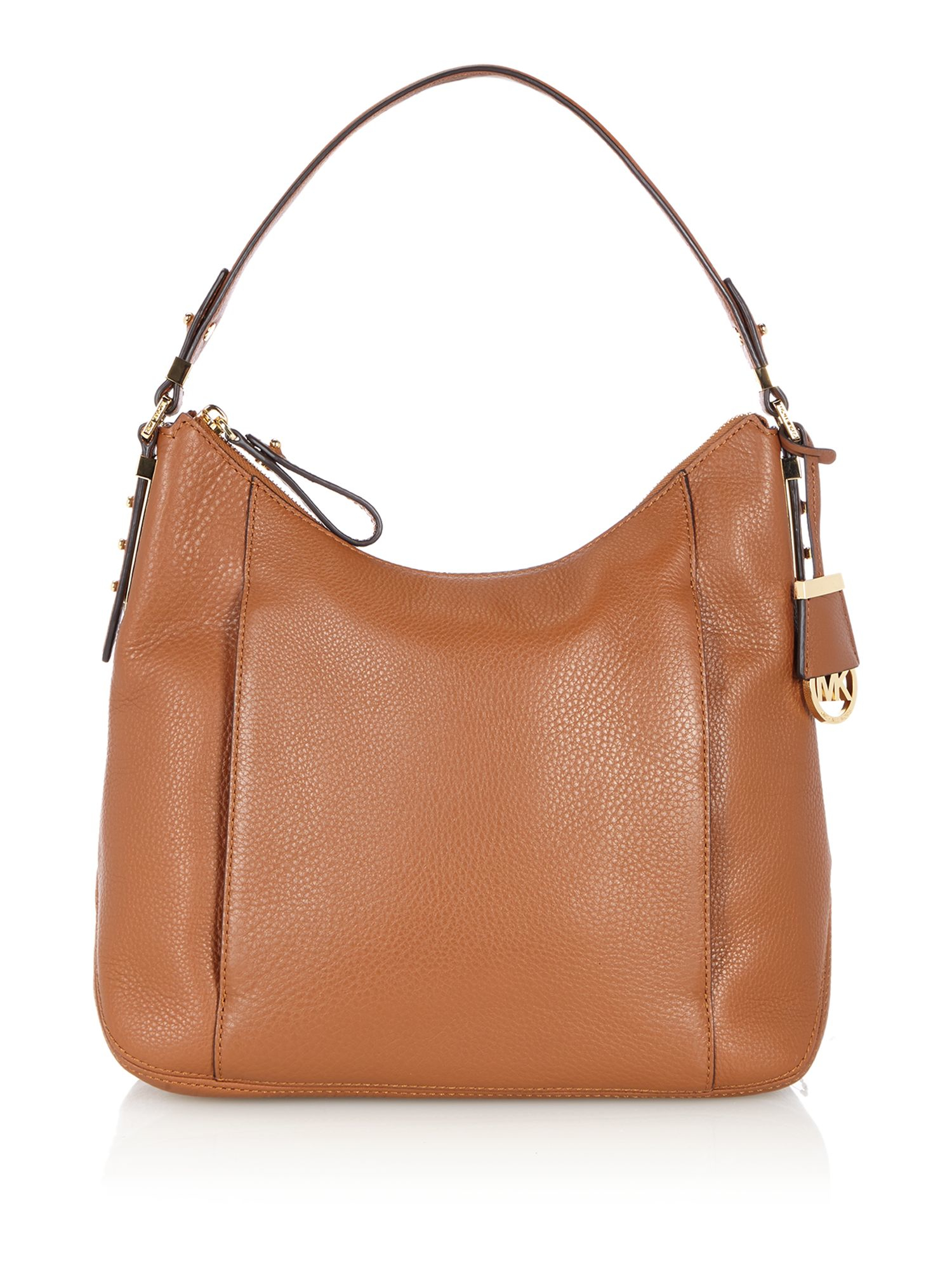 michael kors bowery tan large hobo bag in brown lyst. Black Bedroom Furniture Sets. Home Design Ideas