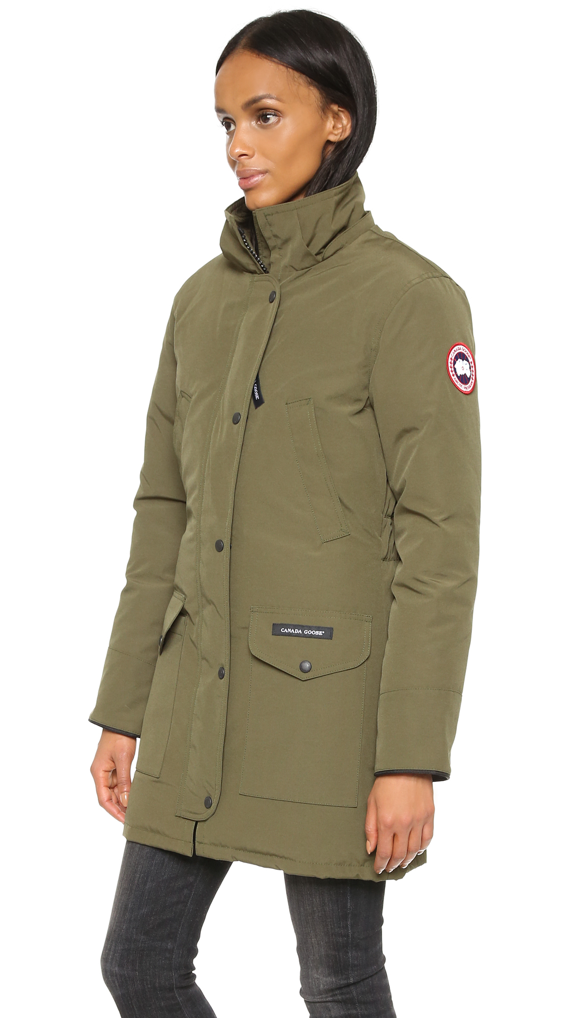 Canada Goose parka sale authentic - Canada goose Trillium Parka in Green (Military Green) | Lyst