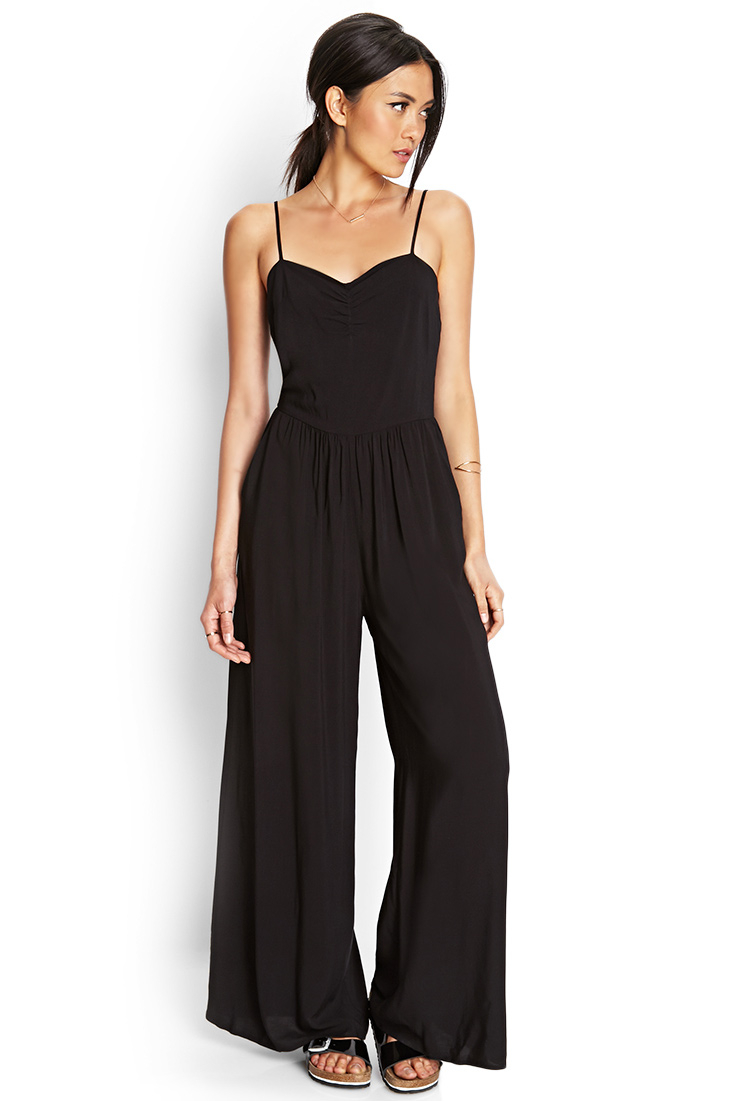 Collection Black Wide Leg Jumpsuit Pictures - Reikian
