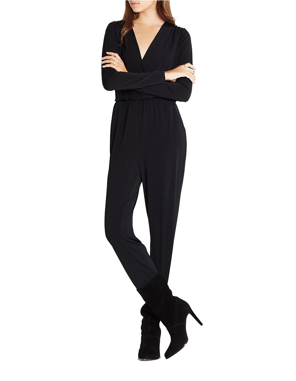 d76abf438f3f Lyst - Bcbgeneration V-neck Jumpsuit in Black