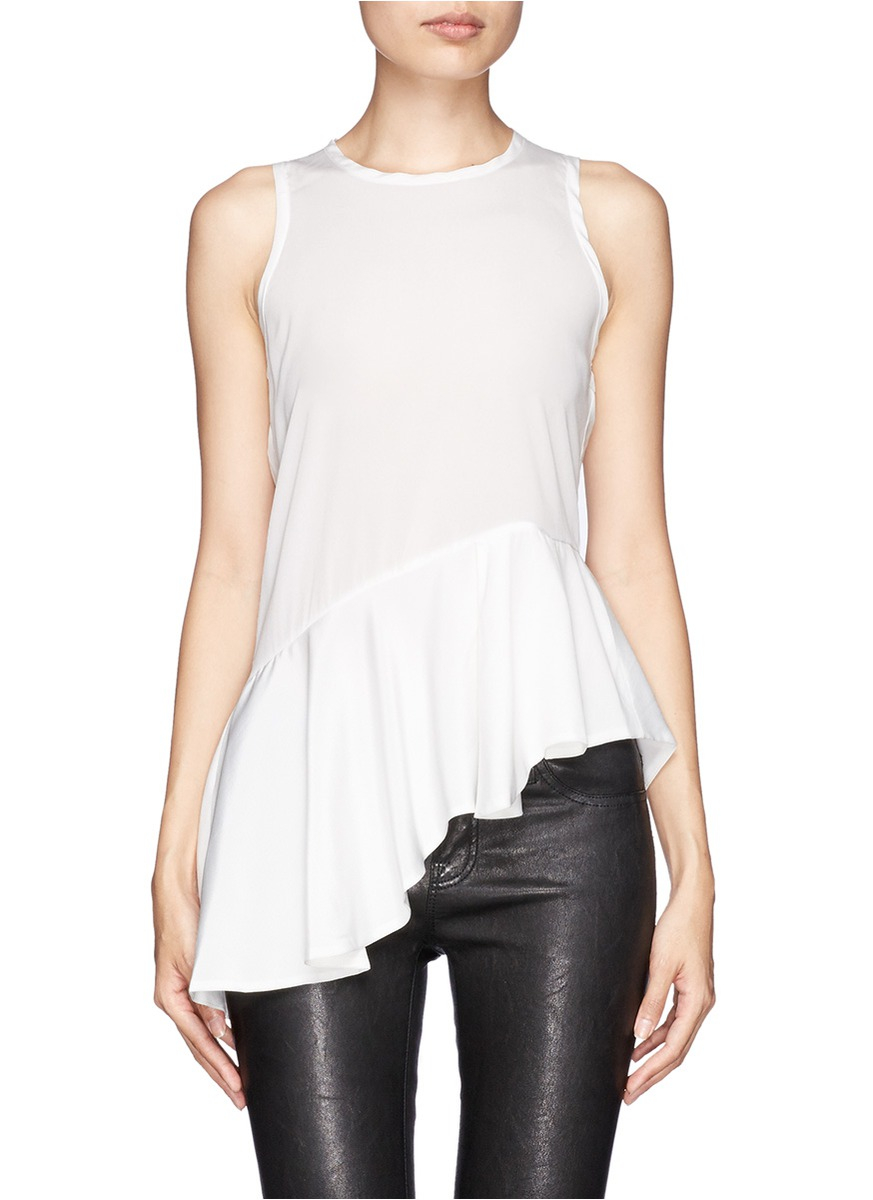 The Top 5 Best Technology Magazines For Computer Geeks: Edition10 Asymmetric Peplum Top In White