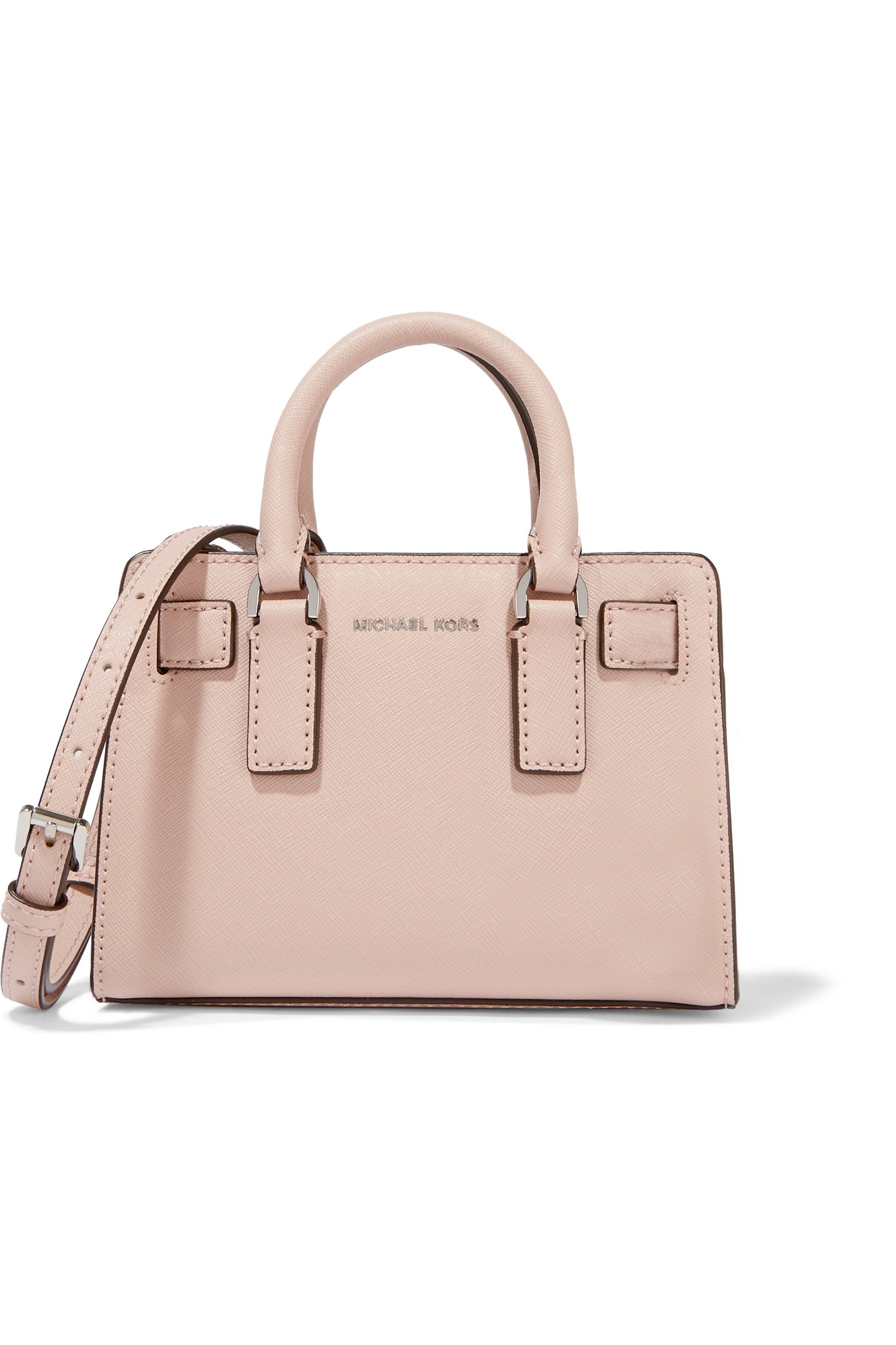 57794e996b34 MICHAEL Michael Kors Dillon Mini Textured-leather Tote in Pink - Lyst