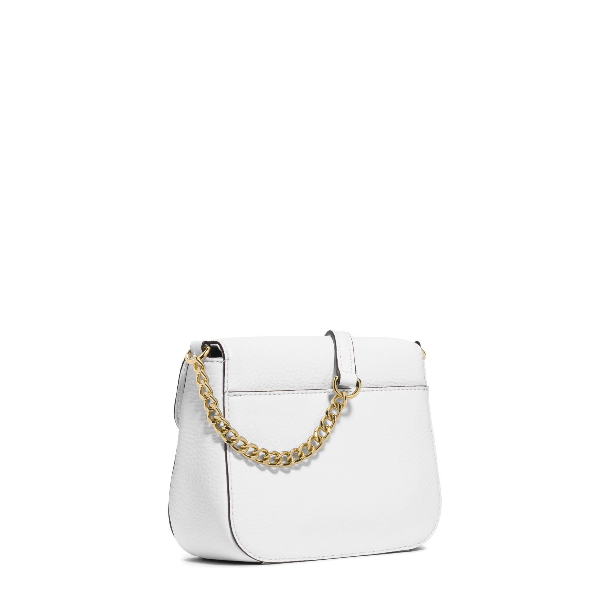 michael kors fulton leather small crossbody in white lyst. Black Bedroom Furniture Sets. Home Design Ideas