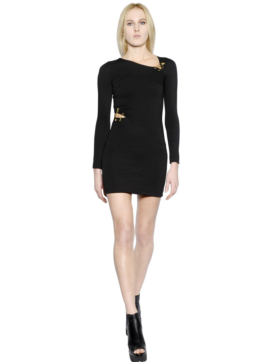 side-slit safety-pin dress - Black Versus Under 70 Dollars Fake For Sale Sale Discount Free Shipping Professional oa5y9rZb