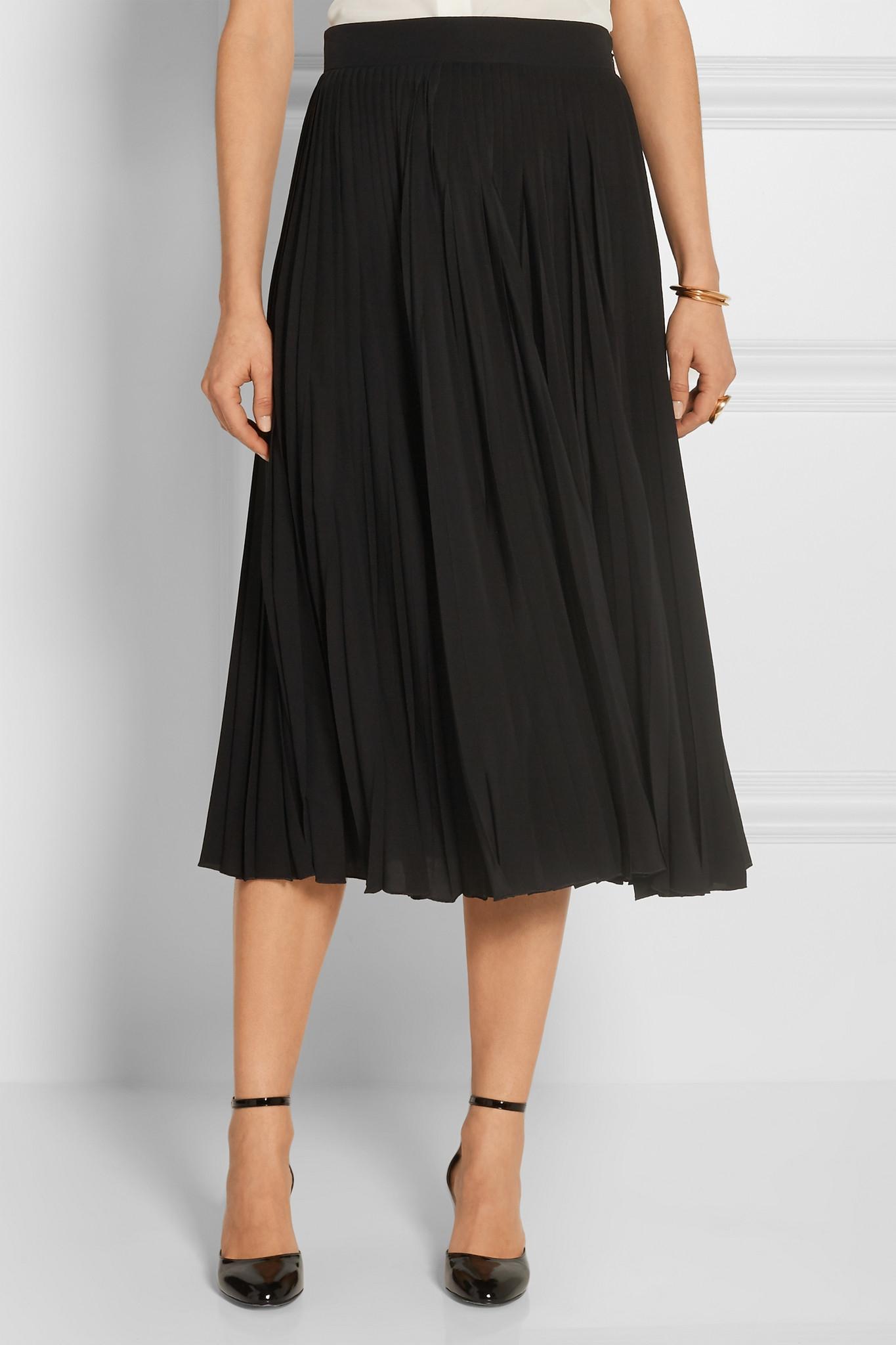 Womens Black Silk Blouse