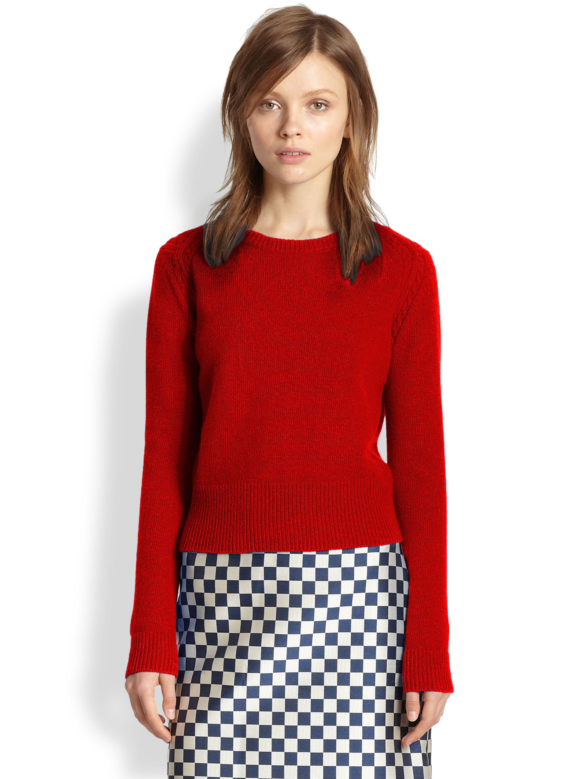 marc by marc jacobs wool sweater in red red pepper lyst. Black Bedroom Furniture Sets. Home Design Ideas