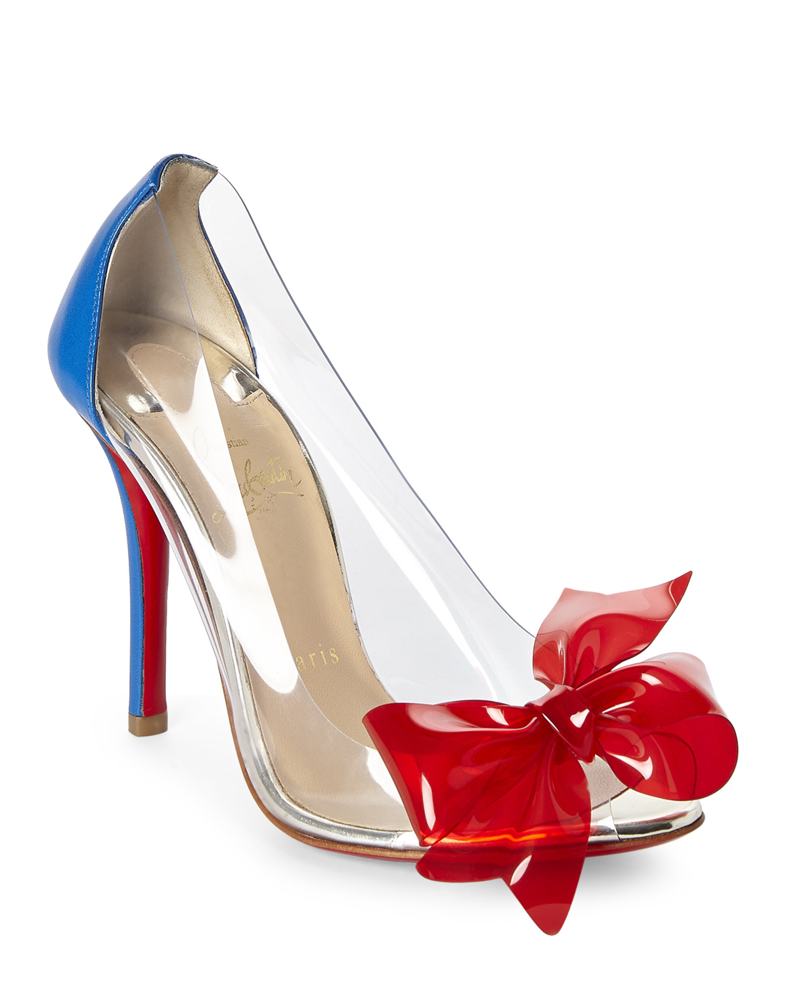 Christian Louboutin PVC Wedge Booties cheap websites pictures for sale 2014 unisex shopping online cheap online buy cheap 2015 3PlfV