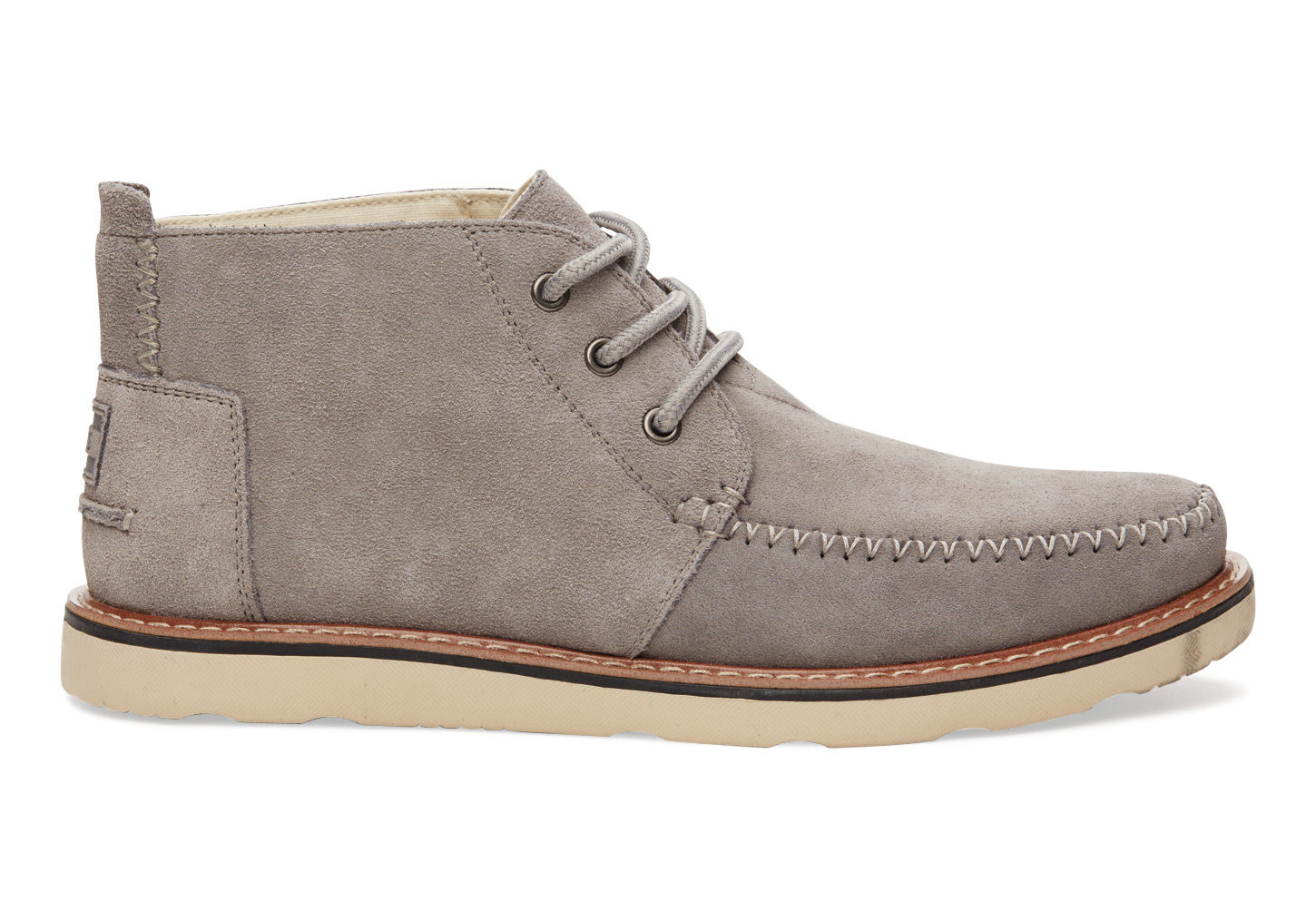 toms suede s chukka boots in gray for lyst