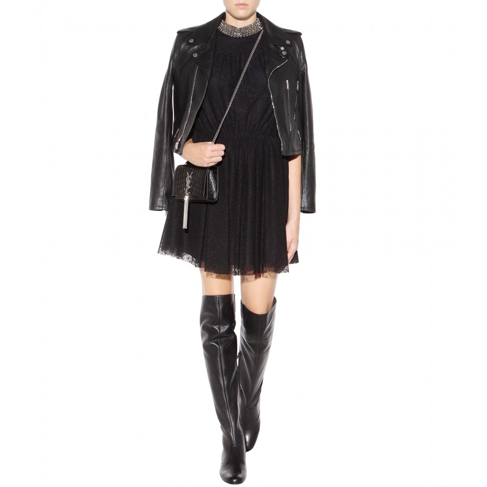Saint LaurentOver-The-Knee Leather Boots f7E4f5k