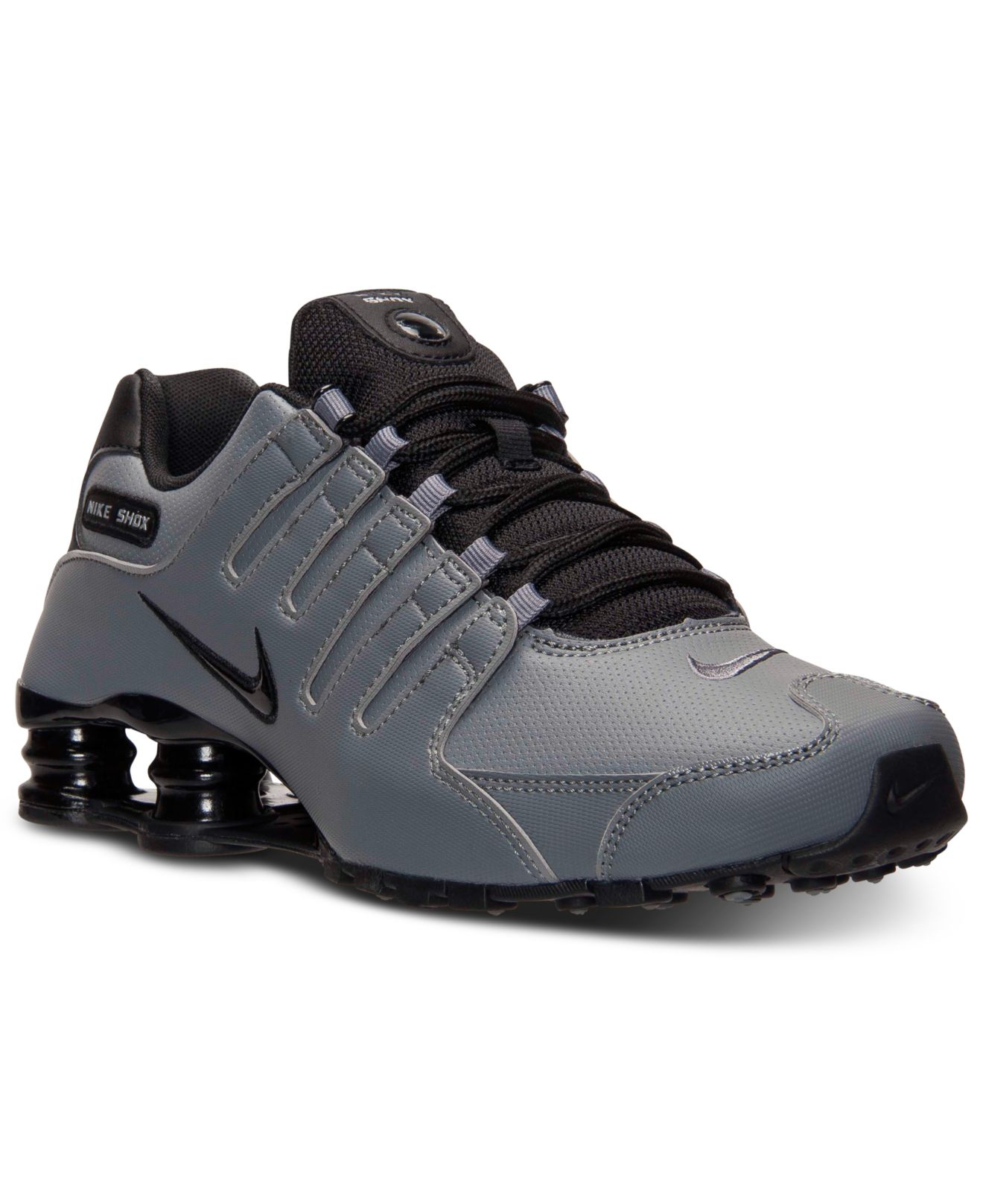 Lyst - Nike Men S Shox Nz Running Sneakers From Finish Line in Gray ... ef58d3894