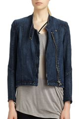 Helmut Lang Denim Moto Jacket