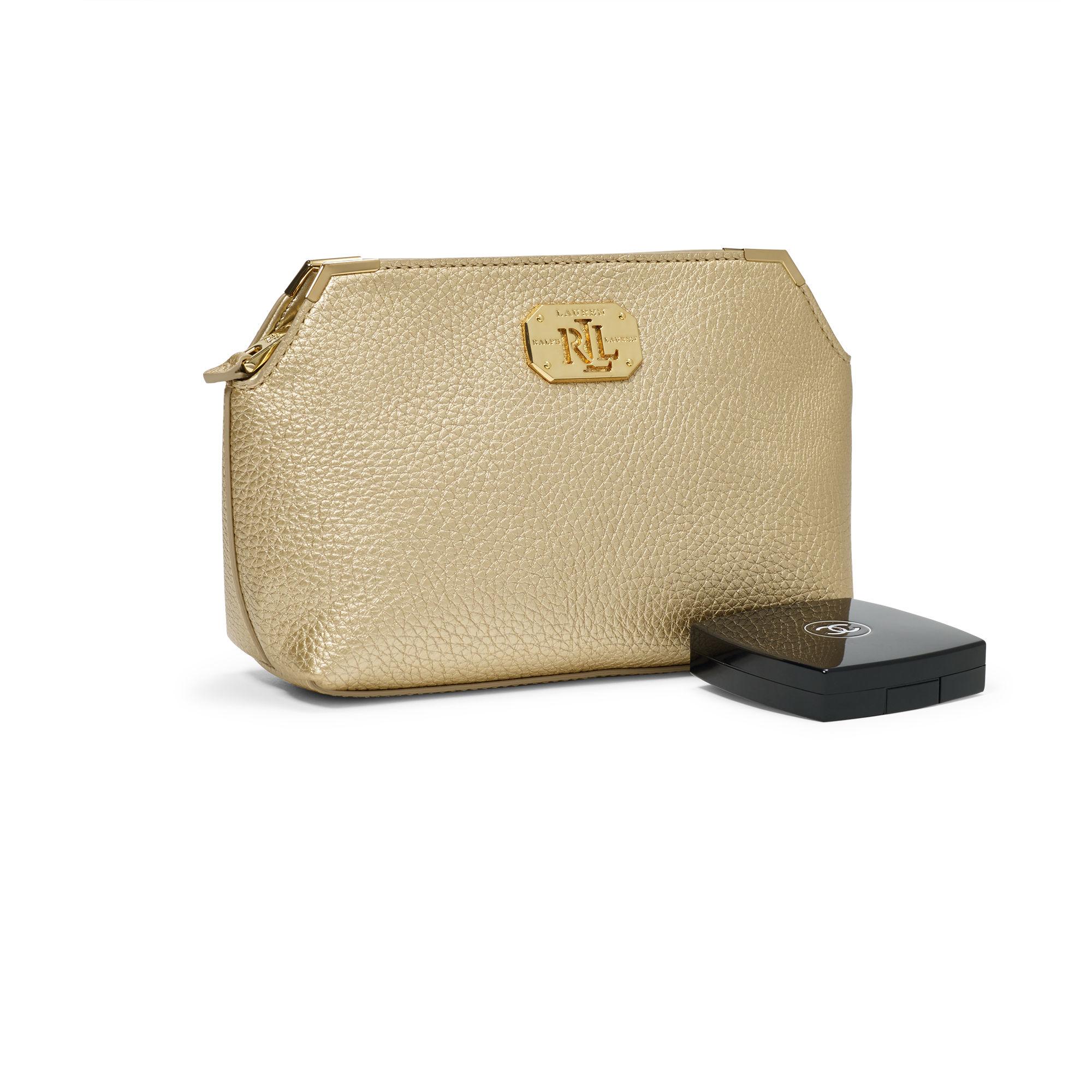 4399e0e14ea5 Ralph Lauren Acadia Cosmetic Bag in Metallic - Lyst