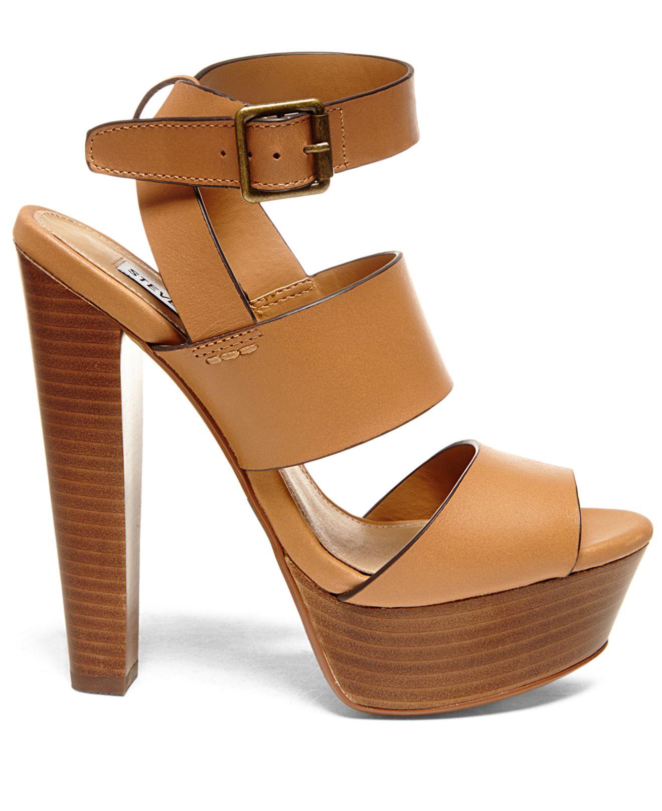 1c01201bed9 Lyst - Steve Madden Women s Dezzzy Platform Dress Sandals in Brown