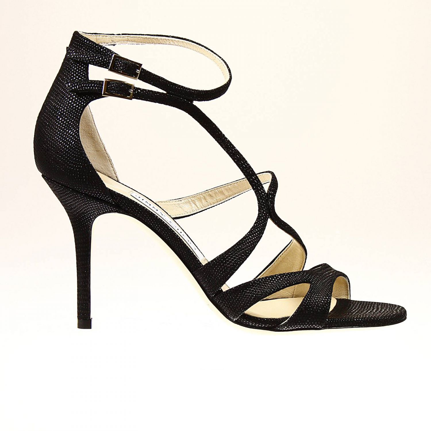 jimmy choo lumiere sandals in black lyst