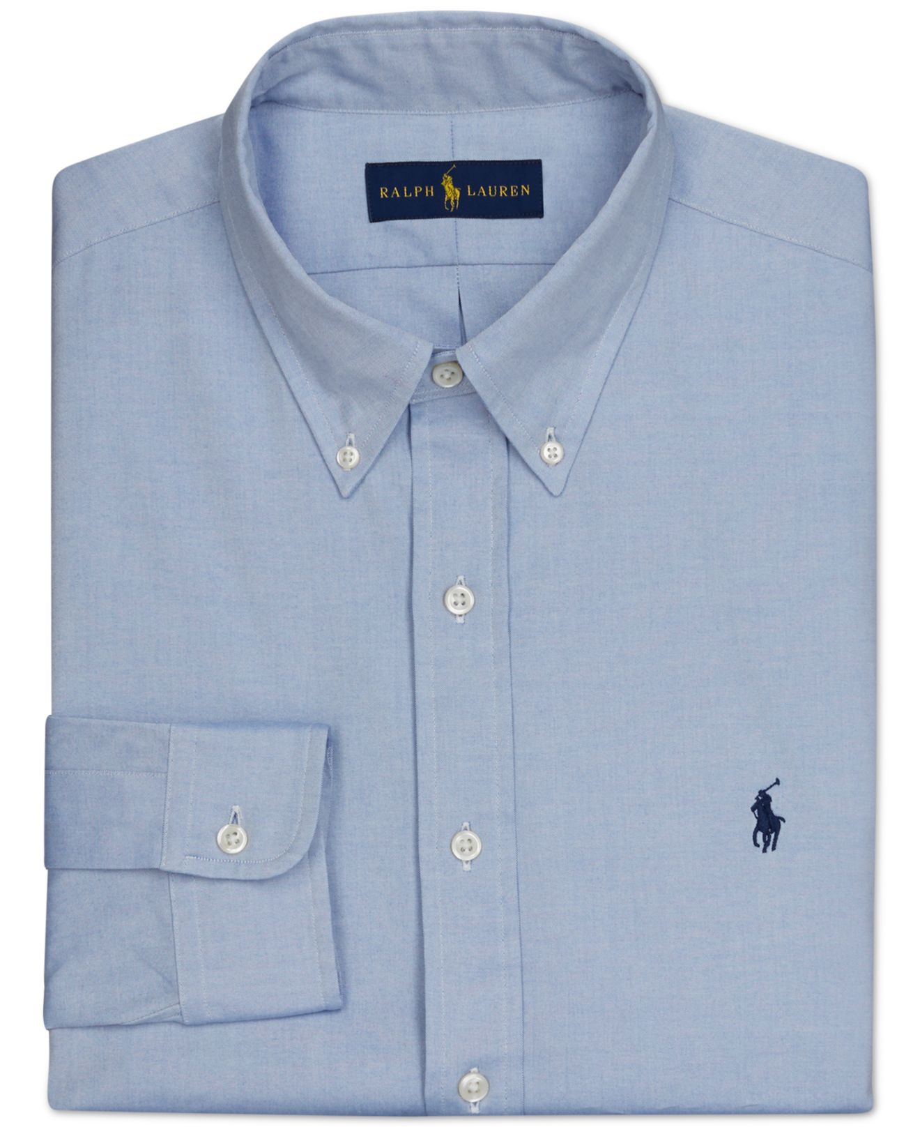 Polo Ralph Lauren Pinpoint Oxford Solid Dress Shirt In