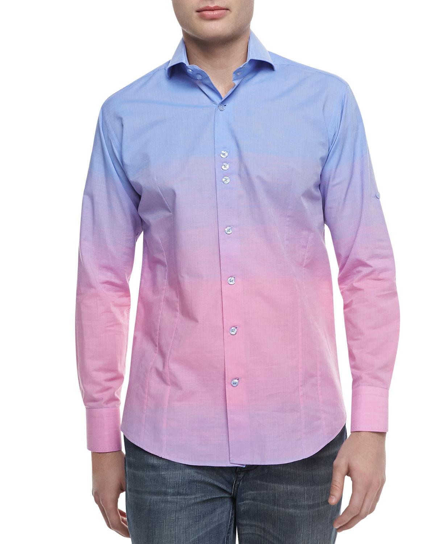 Bogosse Ombre Dry Sport Shirt Bluepink in Blue for Men | Lyst