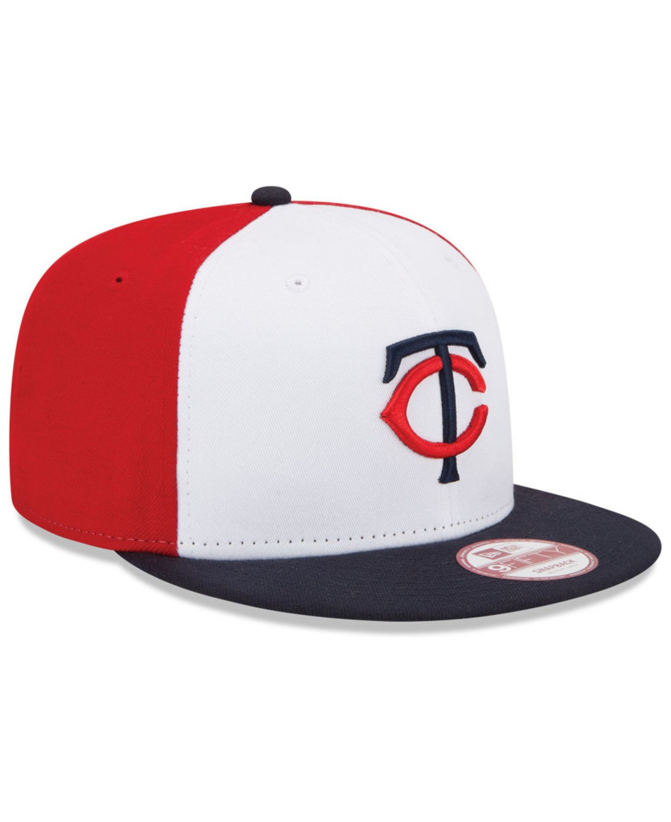 ee6e997a161 ... cheap lyst ktz minnesota twins the rotator 9fifty snapback cap in white  e7af6 84e4f