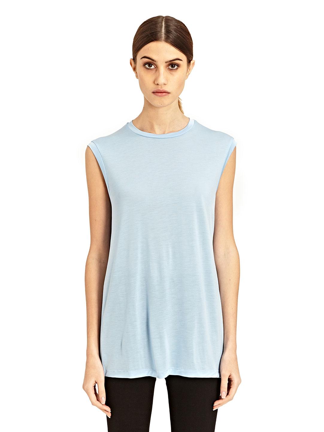 Acne Bye Tencel T Shirt In Blue Lyst