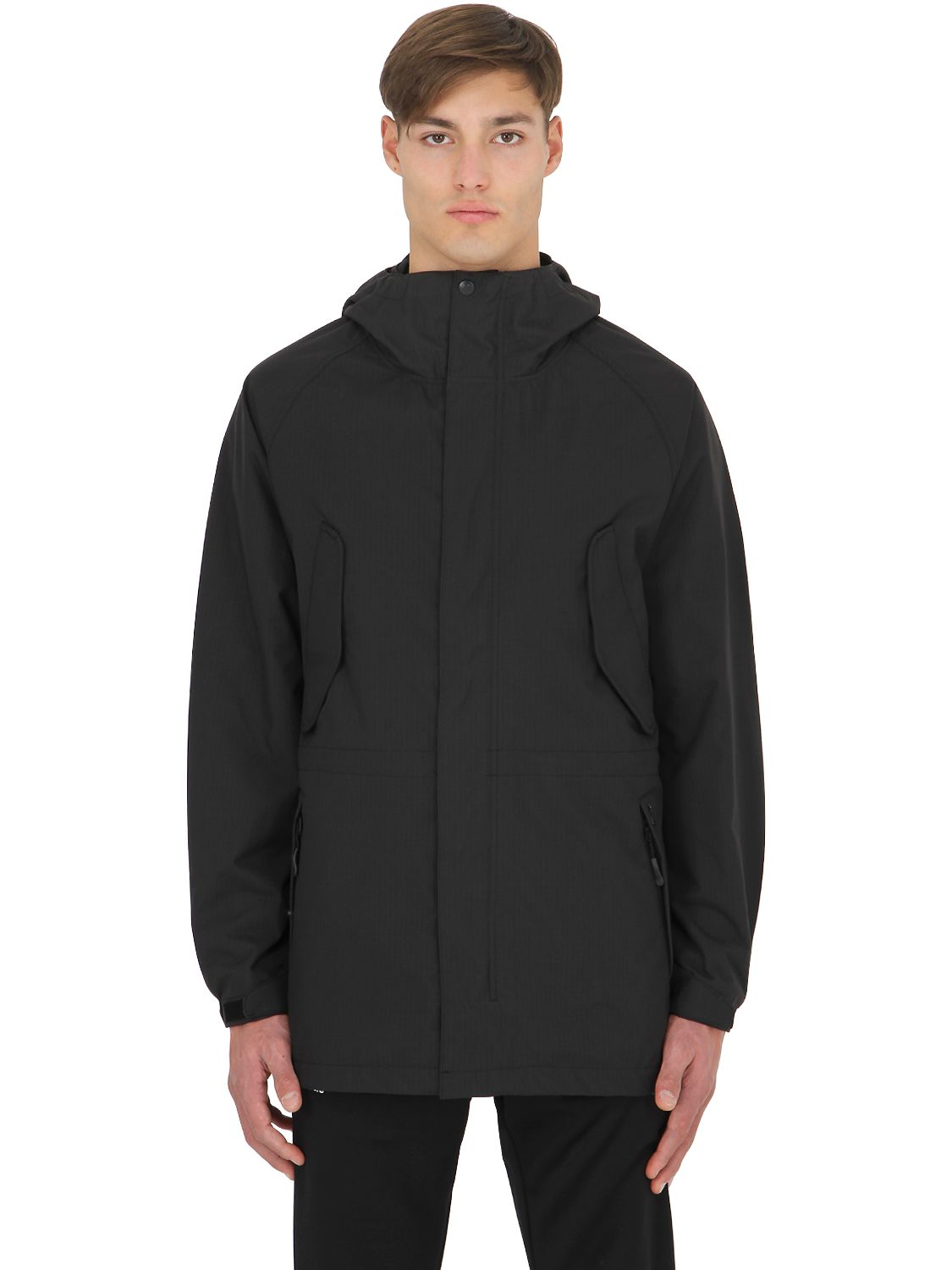 Palace Waterproof Nylon Ripstop Parka Jacket in Black for Men | Lyst