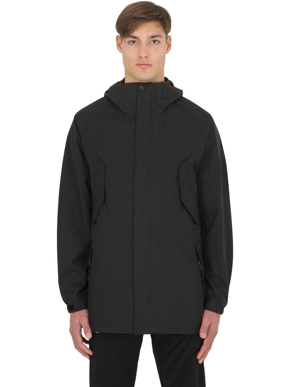 Palace Waterproof Nylon Ripstop Parka Jacket in Black for Men | Lyst