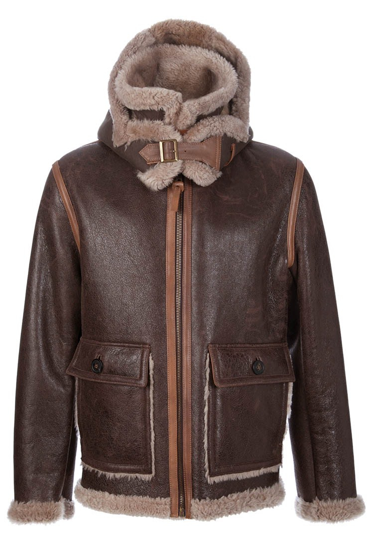 C p company Sheepskin Jacket in Brown for Men | Lyst