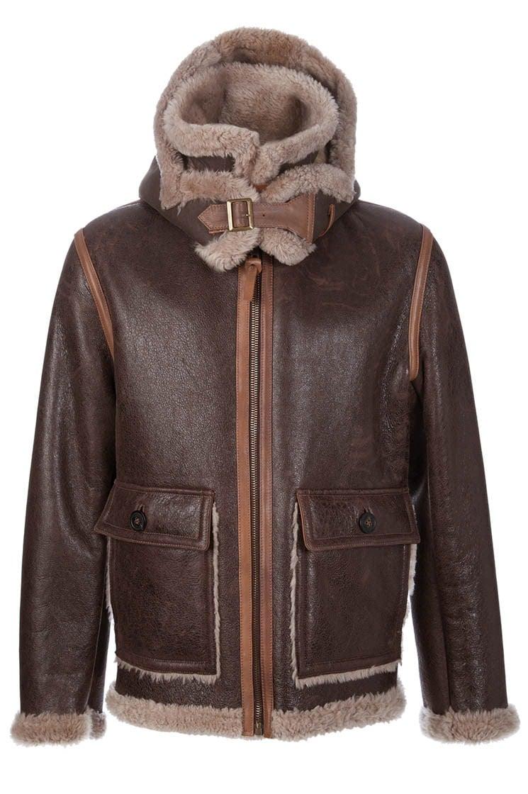 C p company Sheepskin Jacket in Brown for Men | Lyst