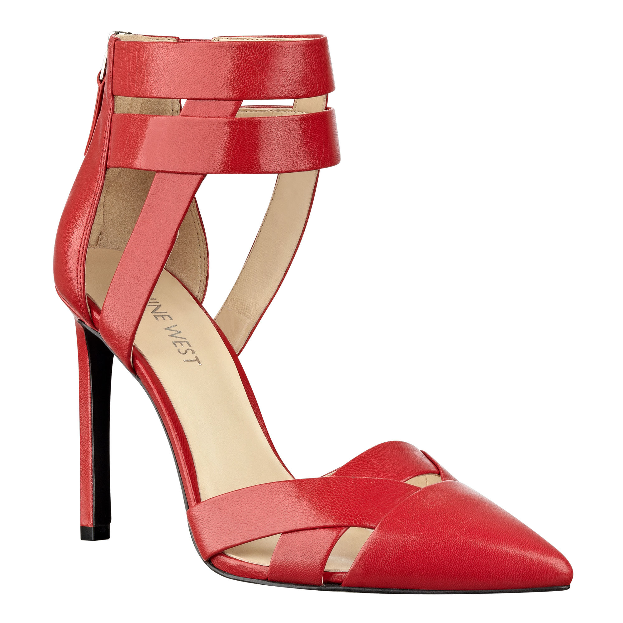 7dae4ebfd2d Lyst nine west trisha pointy toe pumps in red jpg 2000x2000 Nine west red  pumps