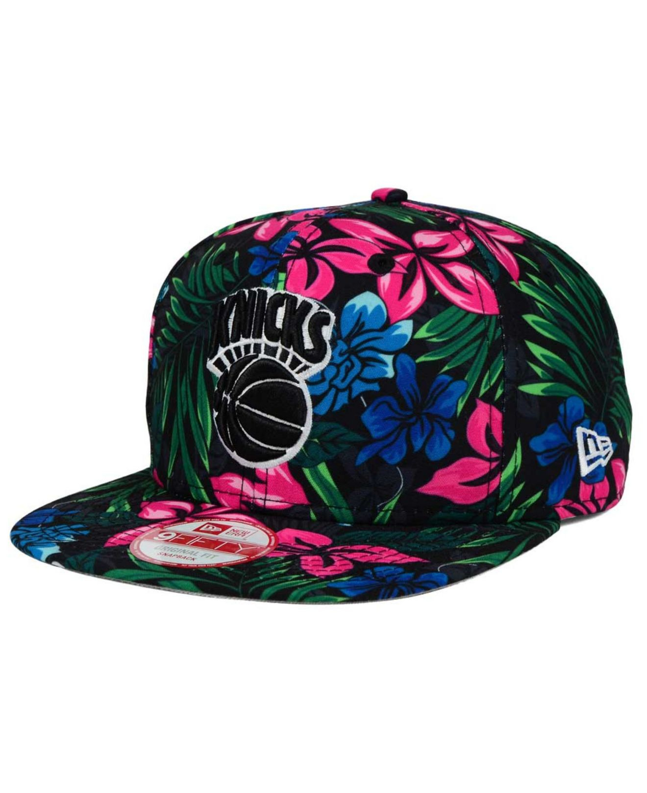 ... reduced lyst ktz new york knicks shadow floral 9fifty snapback cap in  7ae42 b67f7 ... f3a70c31a42