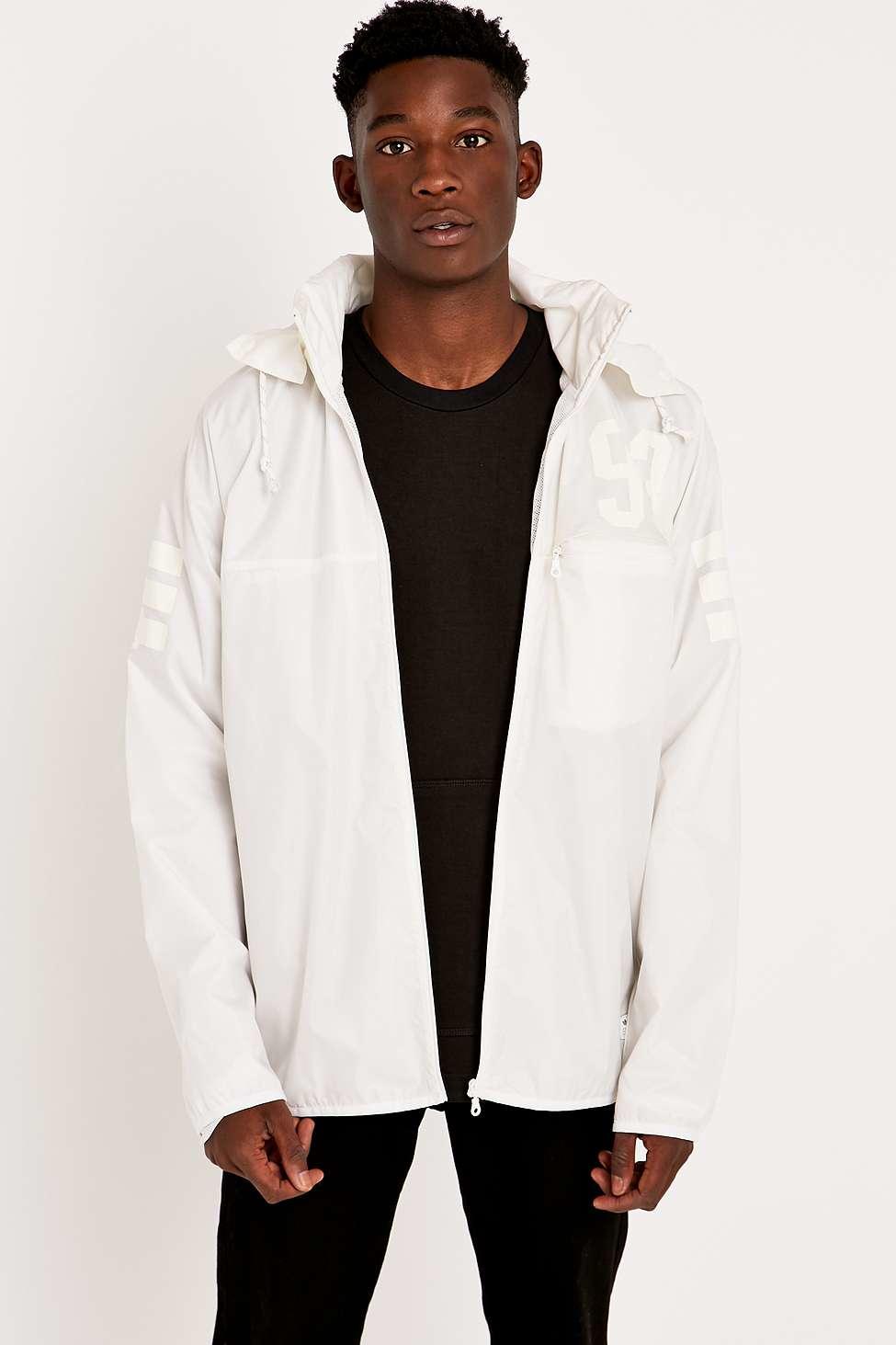 adidas originals ice windbreaker jacket in white for men. Black Bedroom Furniture Sets. Home Design Ideas