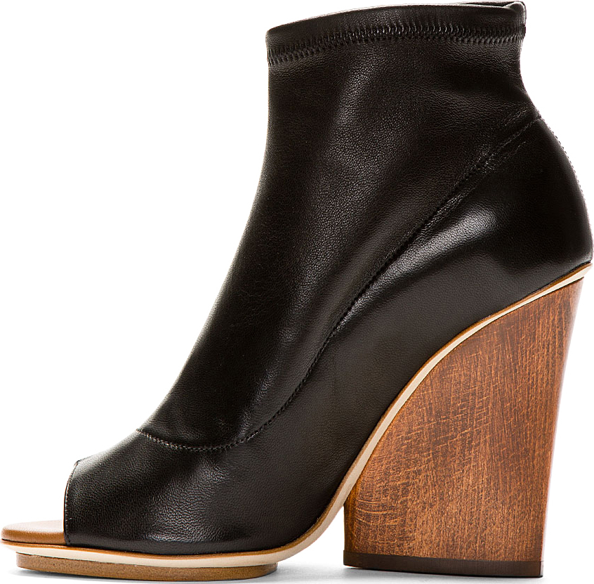 maiyet stretch wedge ankle boots in black lyst